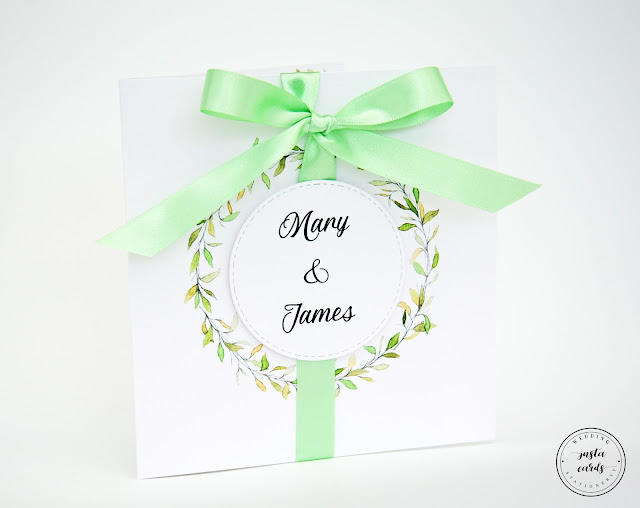 Green Botanical Wedding Invitation