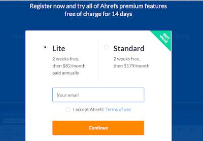 tool ahrefs mengintip Pesaing Blog atau Website