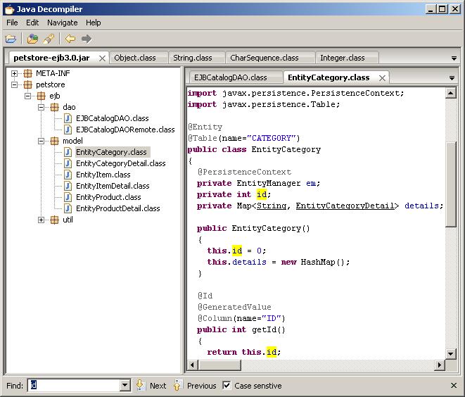 Dive in Oracle: Java Decompiler in Jdeveloper