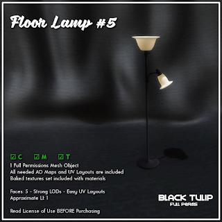 [Black Tulip] Mesh - Floor Lamp #5