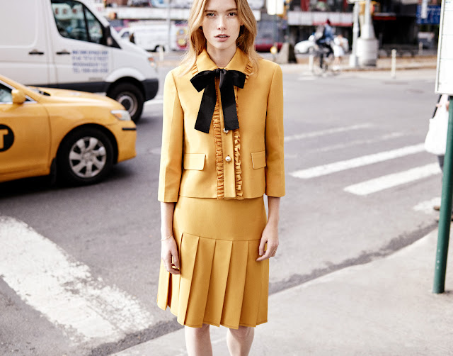 Julia Hafstorm with Jacket and Skirt by Gucci on Cool Chic Style Fashion