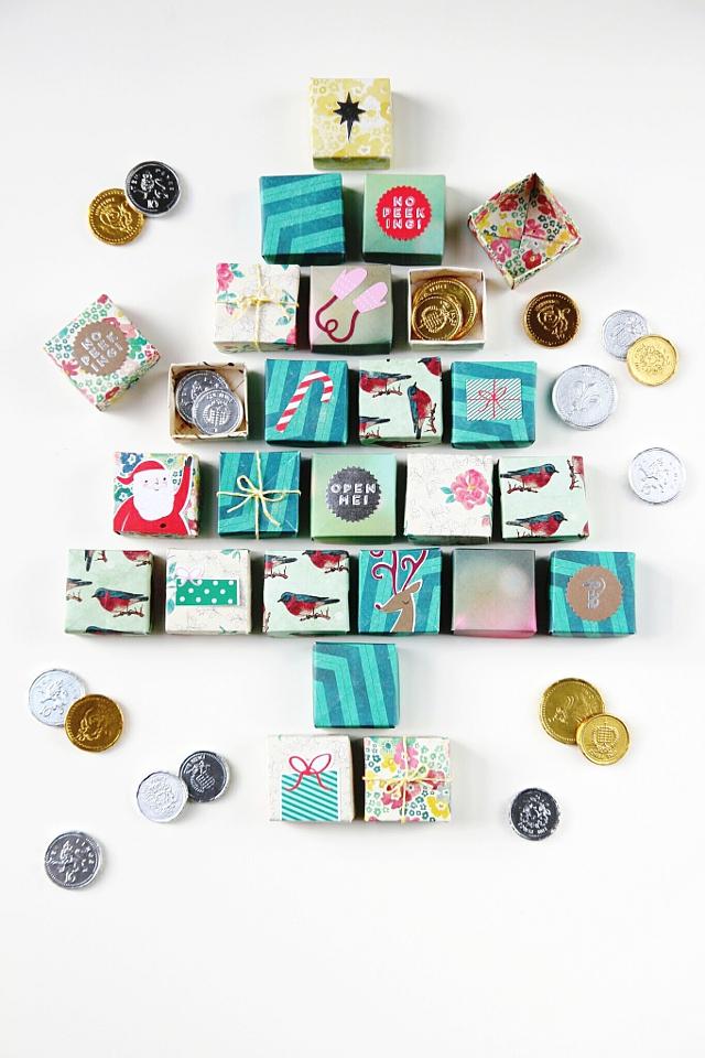 Diy Makeup Advent Calendar : Diy origami box advent calendar gathering beauty