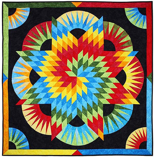 Krystal Nebula Quilt Free Pattern designed by Marsha Evans Moore for Michael Miller Fabrics