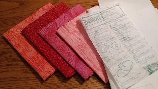 Pink and red Island Batik fabrics