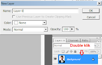 cara membuka layer yang terkunci di photosop, new layer