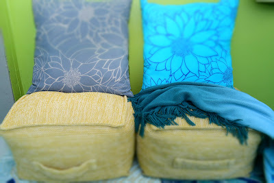 Outdoor patio cushions, throws, pillows, from Target stores, By: JoFer Interiors