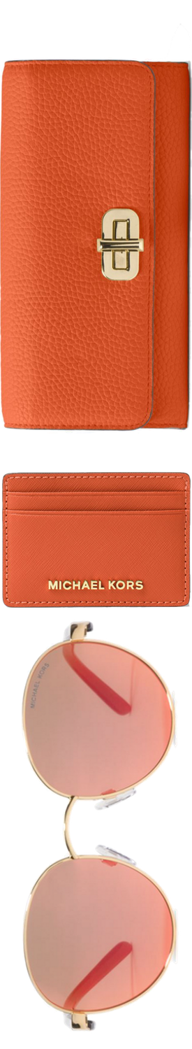 MICHAEL MICHAEL KORS Sullivan Leather Wallets and Sadi Round Sunglasses