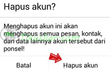 Cara Logout  Gmail Android