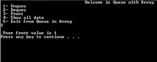 queue implementation in c++ using array
