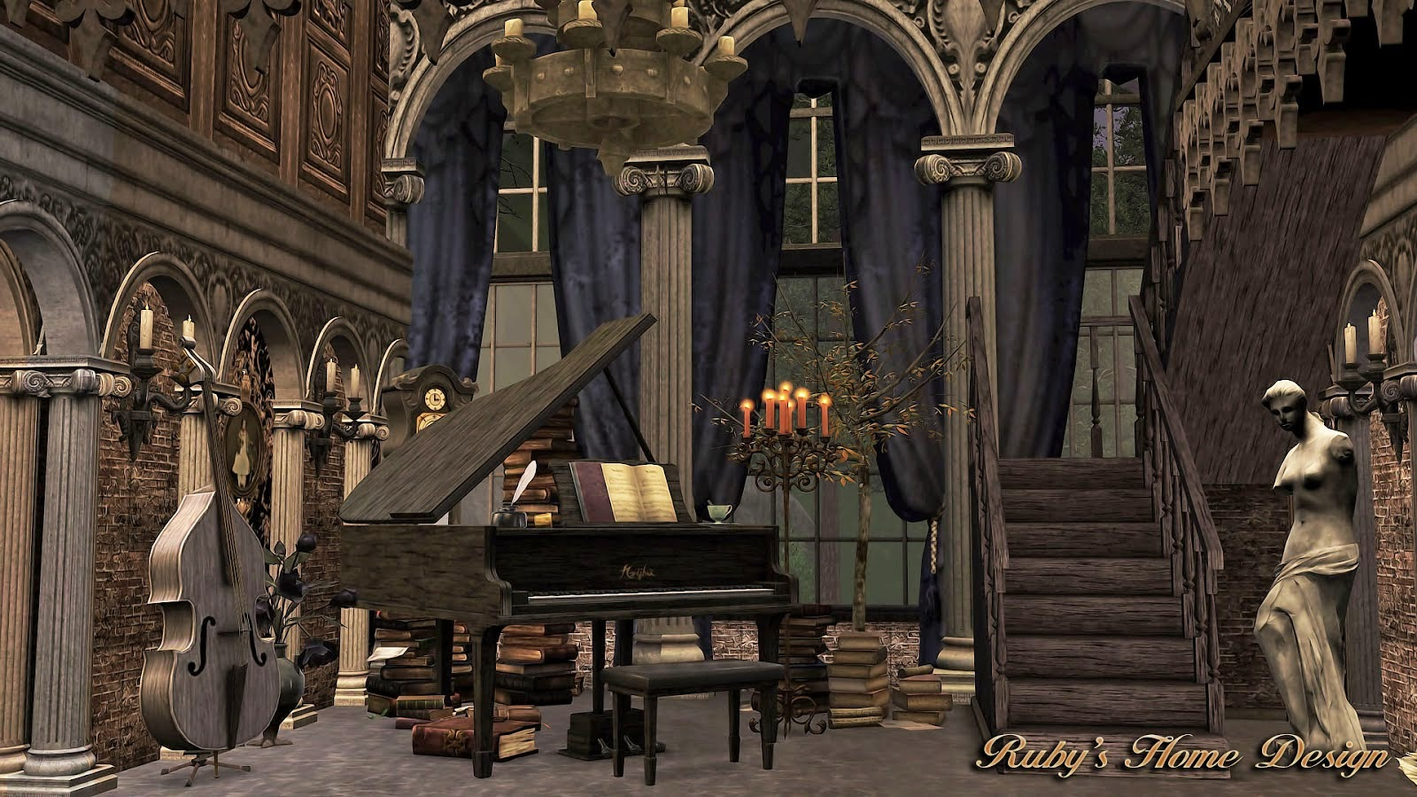 My Sims 3 Blog: Gothic Mansion by Ruby Red