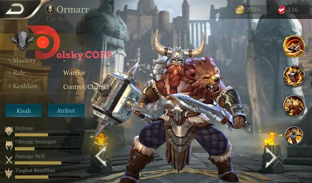 Mobile Arena : Hero Ormarr ( The Berserker ) Attack + Tanker Builds Set up Gear