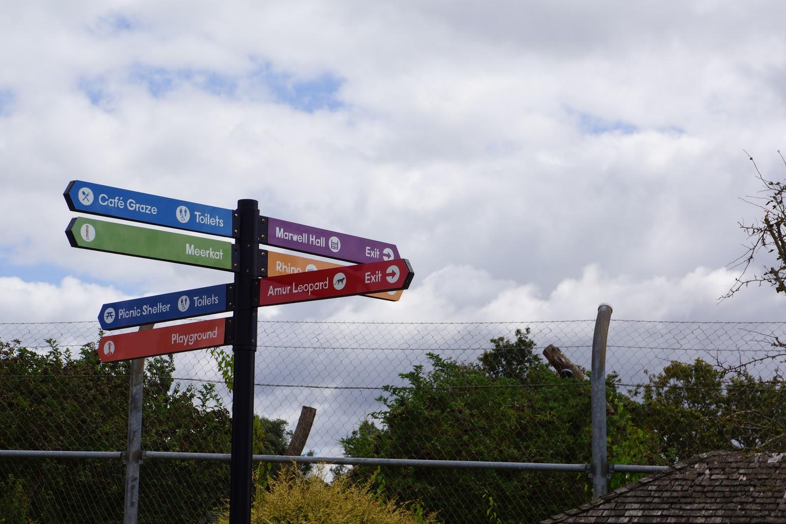 marwell zoo signposts