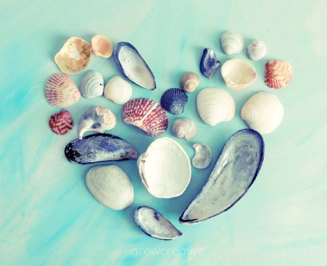 Valentine's seashell heart