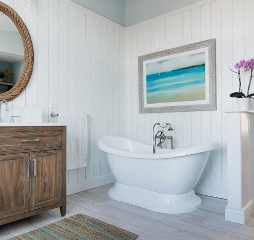 Coastal Bathroom Wall Decor Ideas