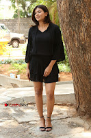 Actress Hebah Patel Stills in Black Mini Dress at Angel Movie Teaser Launch  0029.JPG