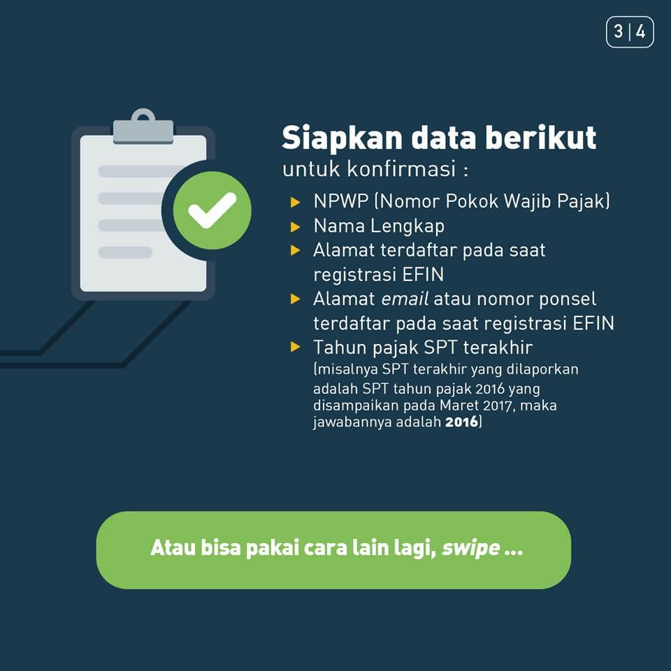 Cara Mendapatkan EFIN Pribadi Secara Online