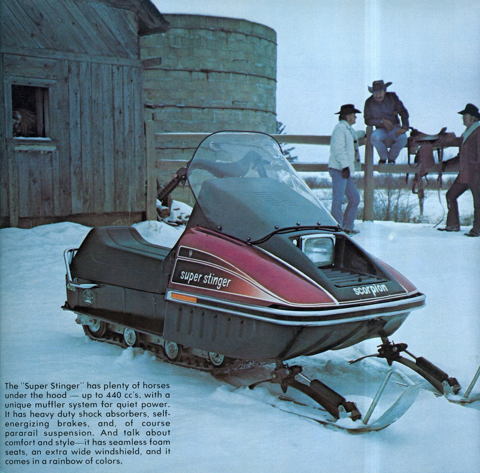 CLASSIC SNOWMOBILES OF THE PAST: 1975 SCORPION SUPER ...