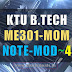 Note for ME301 Mechanics of Machinery -MOM Module 4 [S5 ME]