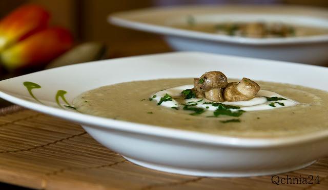 kremowa zupa z topinamburu