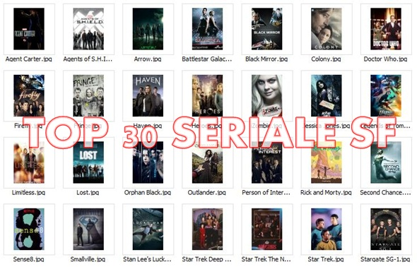 Cele mai populare seriale SF - top 30