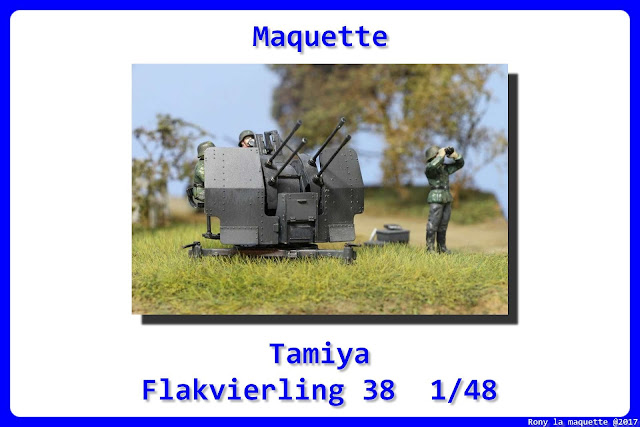 Maquette Tamiya German 20 mm Flakvieling 38 au 1/48