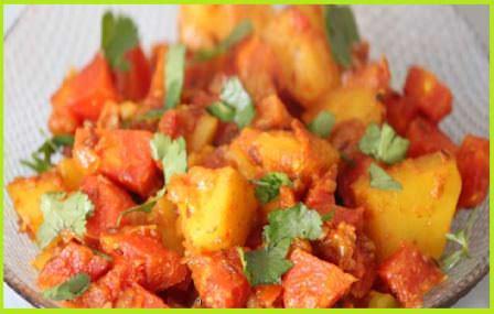 सादा गाजर आलू की सूखी सब्ज़ी बनाने की विधि   How to Make Gajar Aalu