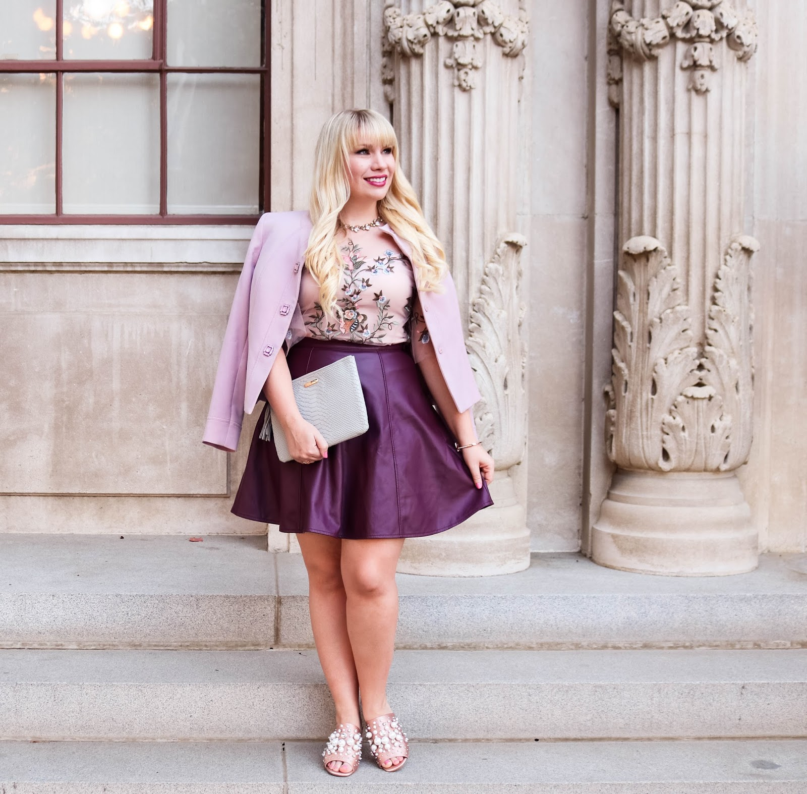 0dcfa14a754 Today I m styling my favorite color combo for fall…plum and blush  3 Get my  outfit details below!