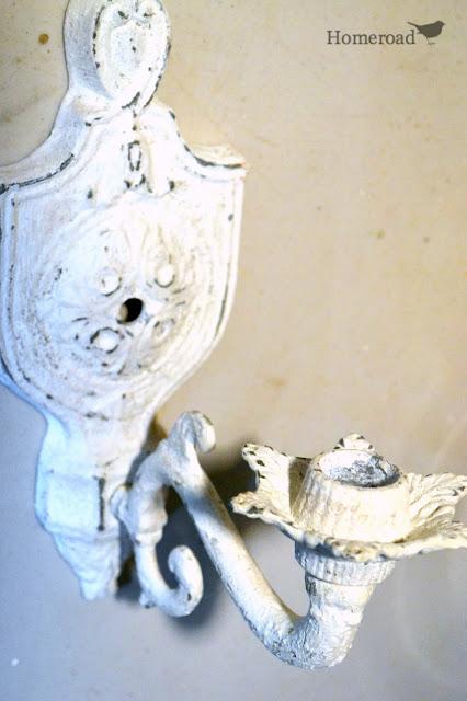 Shabby chic white rustic paint treatment