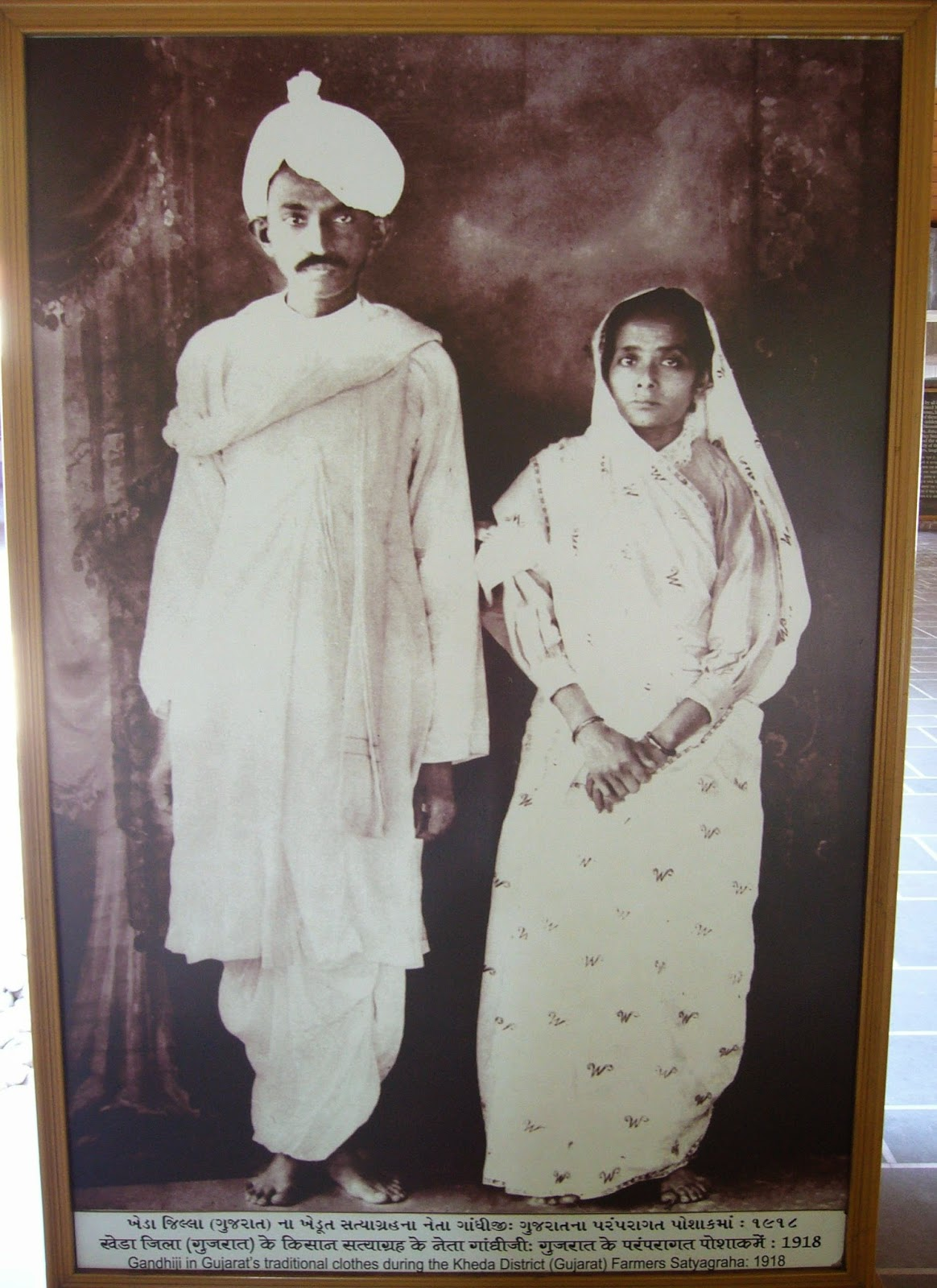 M K Gandhi and Kasturba