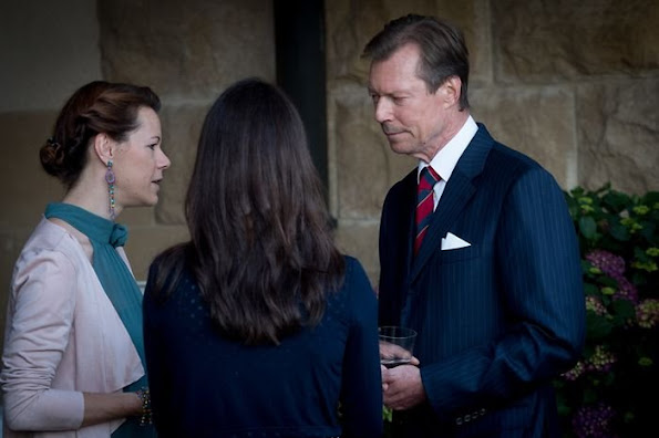 Hereditary Grand Duke Guillaume and Hereditary Grand Duchess Stéphanie of Luxembourg were also present for this traditional event at the Grand Ducal family's principal residence.