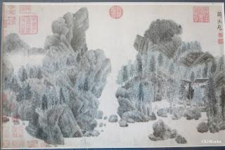 Chinese shanshui landscape