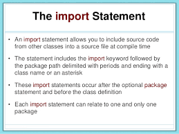 Java Import Statement - Web Development and Design
