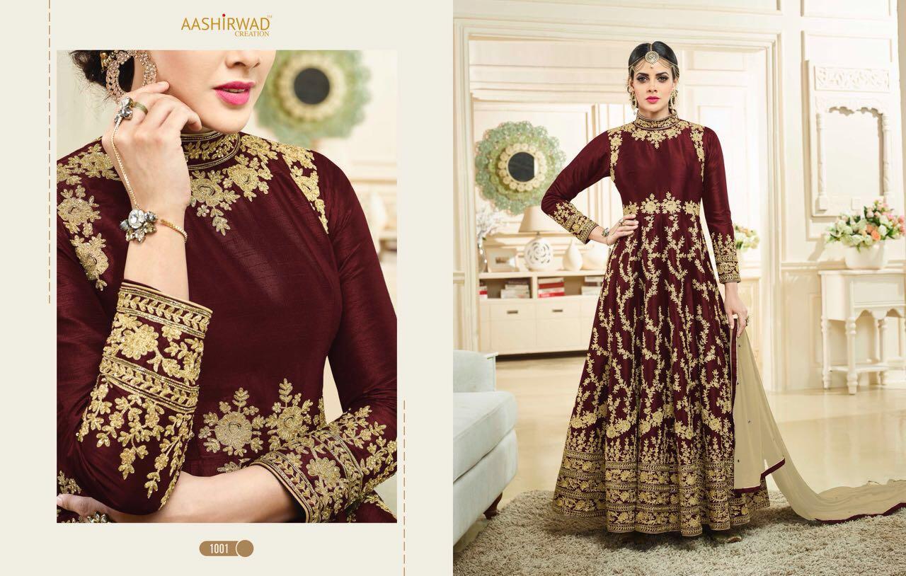 SIMRAN-Heavy Designer Semi Stitched Georgette Salwar Suit