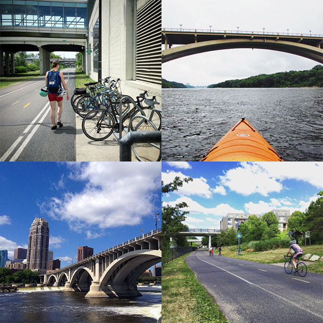 56 Places to Visit in Minneapolis: Freewheel Bike, Mississippi River, Stone Arch Bridge, Midtown Greenway
