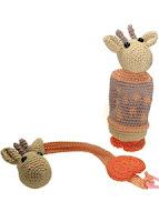 Rammelaar en speenkoord girafe