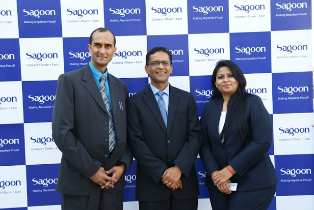 Co-Founders of Sagoon (From Left to Right) Mr. Kabin Sitoula,Mr. Govinda Giri & Ms. Swati Dayal