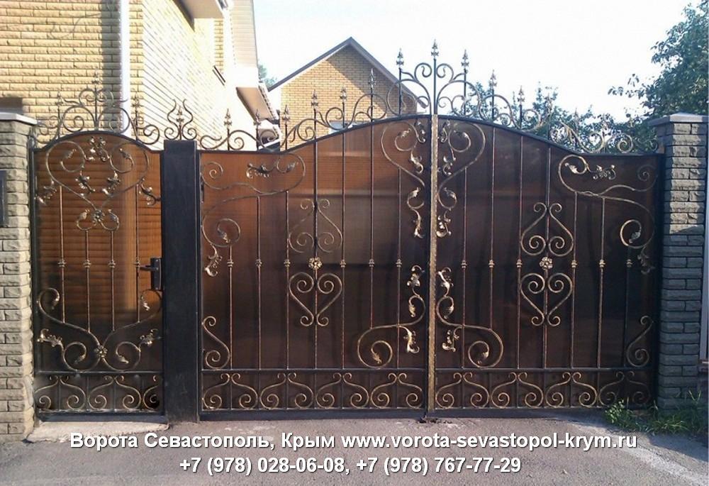 Кованые ворота откатные в Крыму