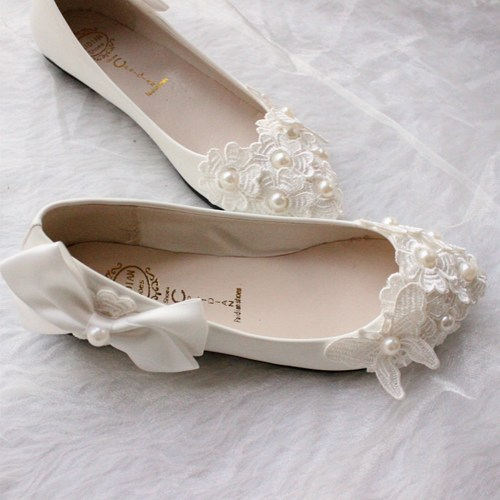 White Flats For Wedding