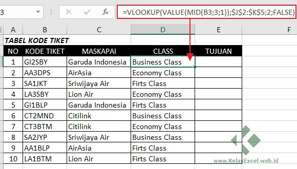Rumus Vlookup-Mid Excel