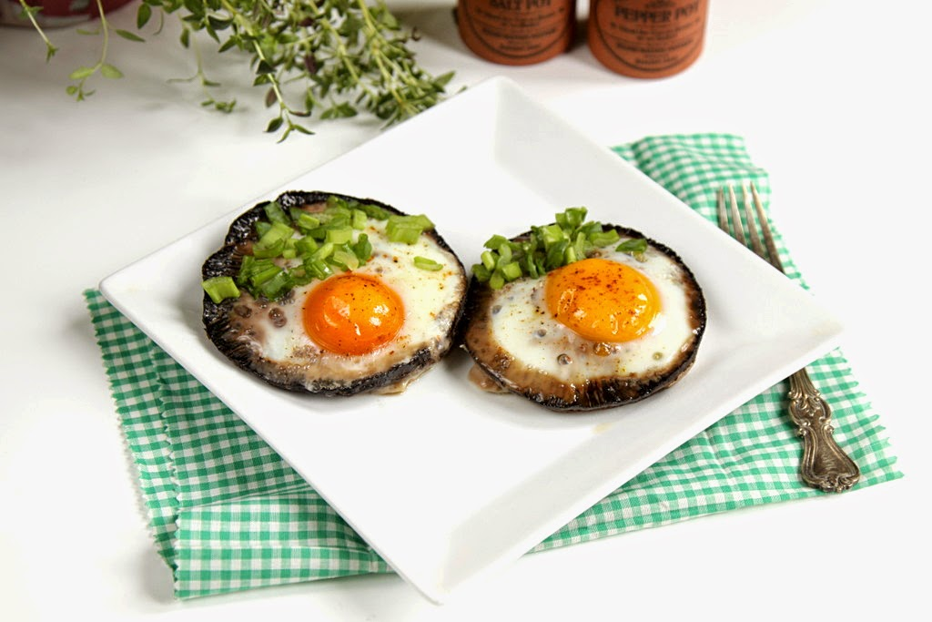 Pieczarki zapiekane z jajkiem