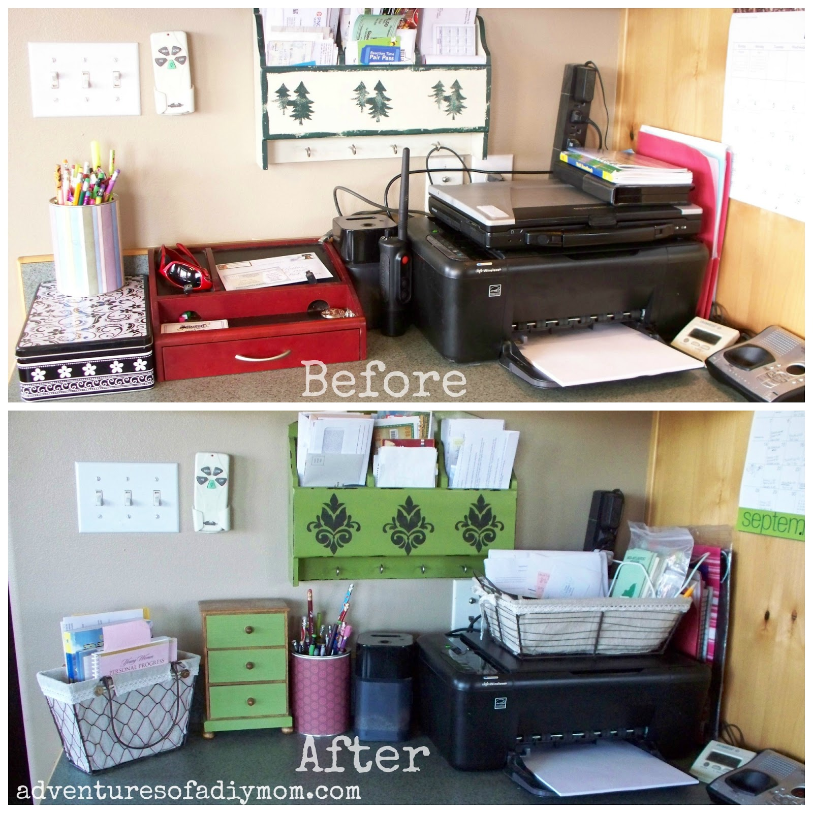 Desk Area Makeover