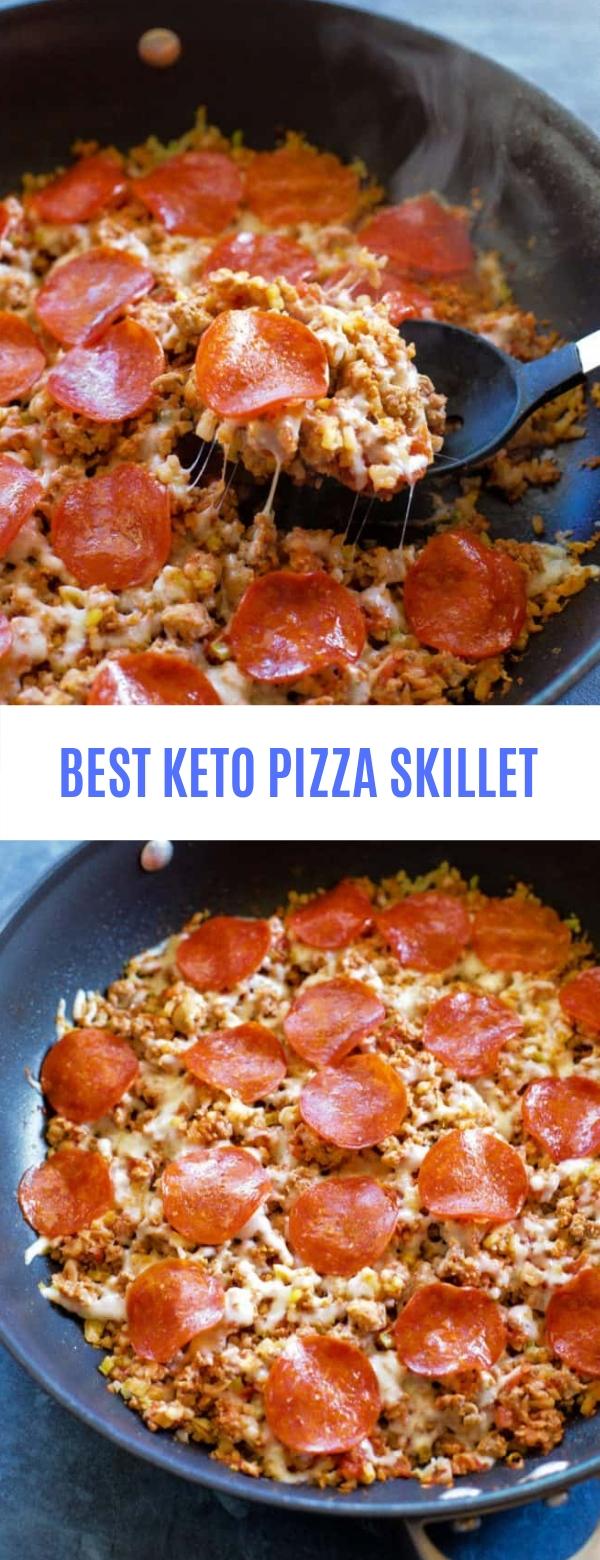 BEST KETO PIZZA SKILLET