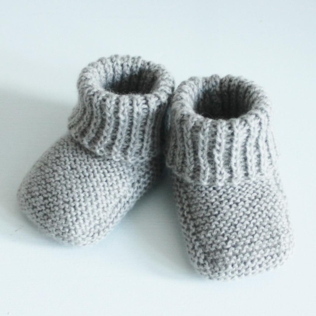 strikke sokker baby