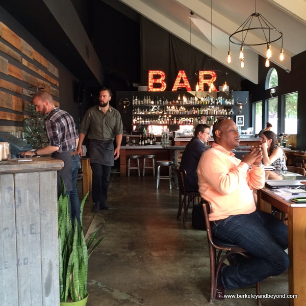 lunch in bar at TOAST Kitchen + Bar in Oakland, California