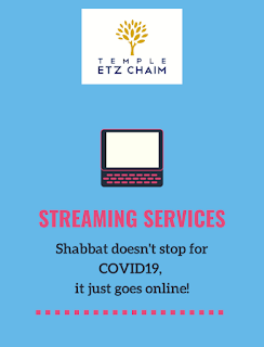 Temple Etz Chaim - to hold services virtually