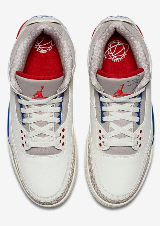 ff15d60cf5d547 Here is a look at the Air Jordan 3 Retro  International Flight  Shoes  Available at 10 AM EST HERE at Villa