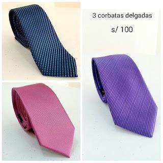 Corbatas Delgadas - Slim - Peru
