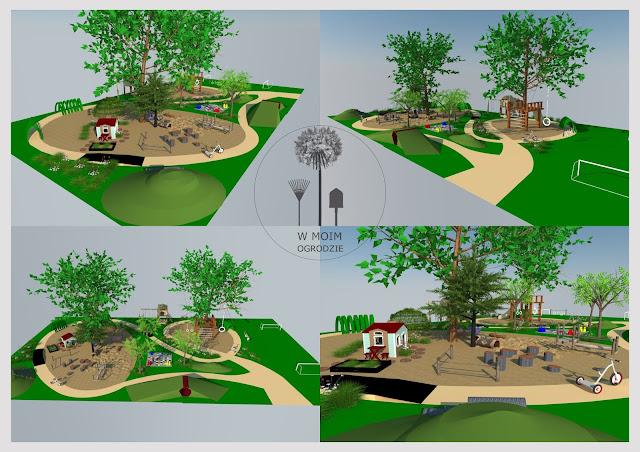 plac zabaw w ogrodzie projektowanie
