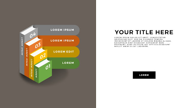 Education and Learning Infographics Free PowerPoint Template with Books and Banners