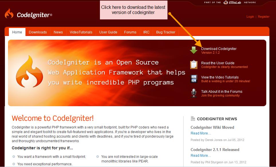PHP Tutorials: Codeigniter